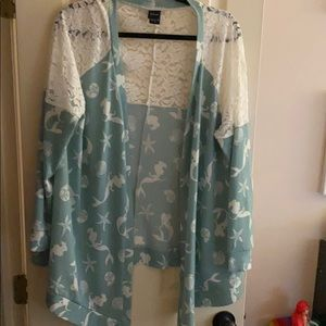 disney size 0 ariel draped cardigan